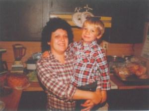 Young Brandon Novak and Mom