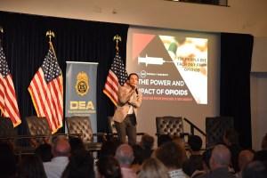 Brandon Novak at DEA 360 Opioids event