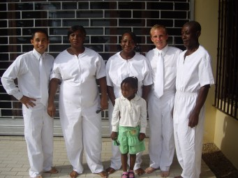Roldan, Desirée, Annie, her daughter Cyannie, myself and Alfred on their baptism day. One of the best days ever.