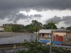 This was the view from the kitchen previously seen. Nothing better than an overcast day with rainclouds on the horizon.