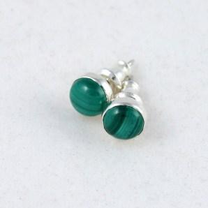 earring_studs_malachite_6mm