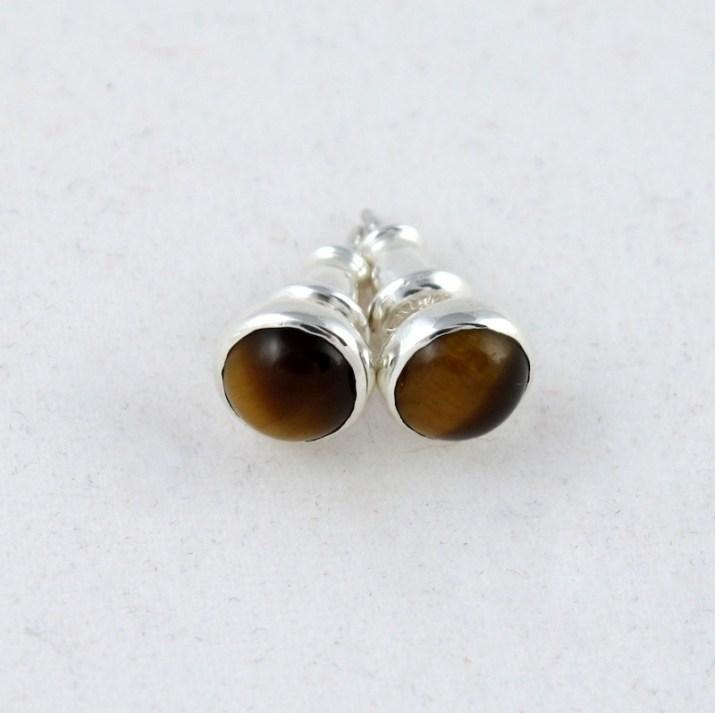 earring_studs_tigereye_6mm