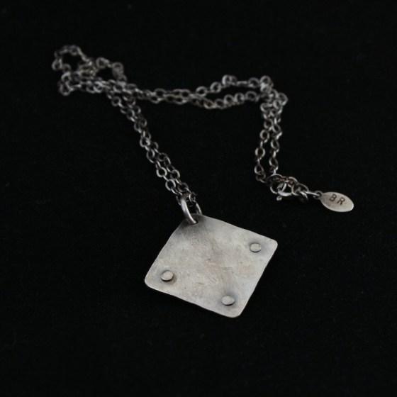 necklace_jasper_silver_rustic_unique_rivets_patina_back