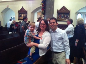 Hanging out with Bonnie Engstrom and her son, James Fulton, who was miraculously healed at birth.