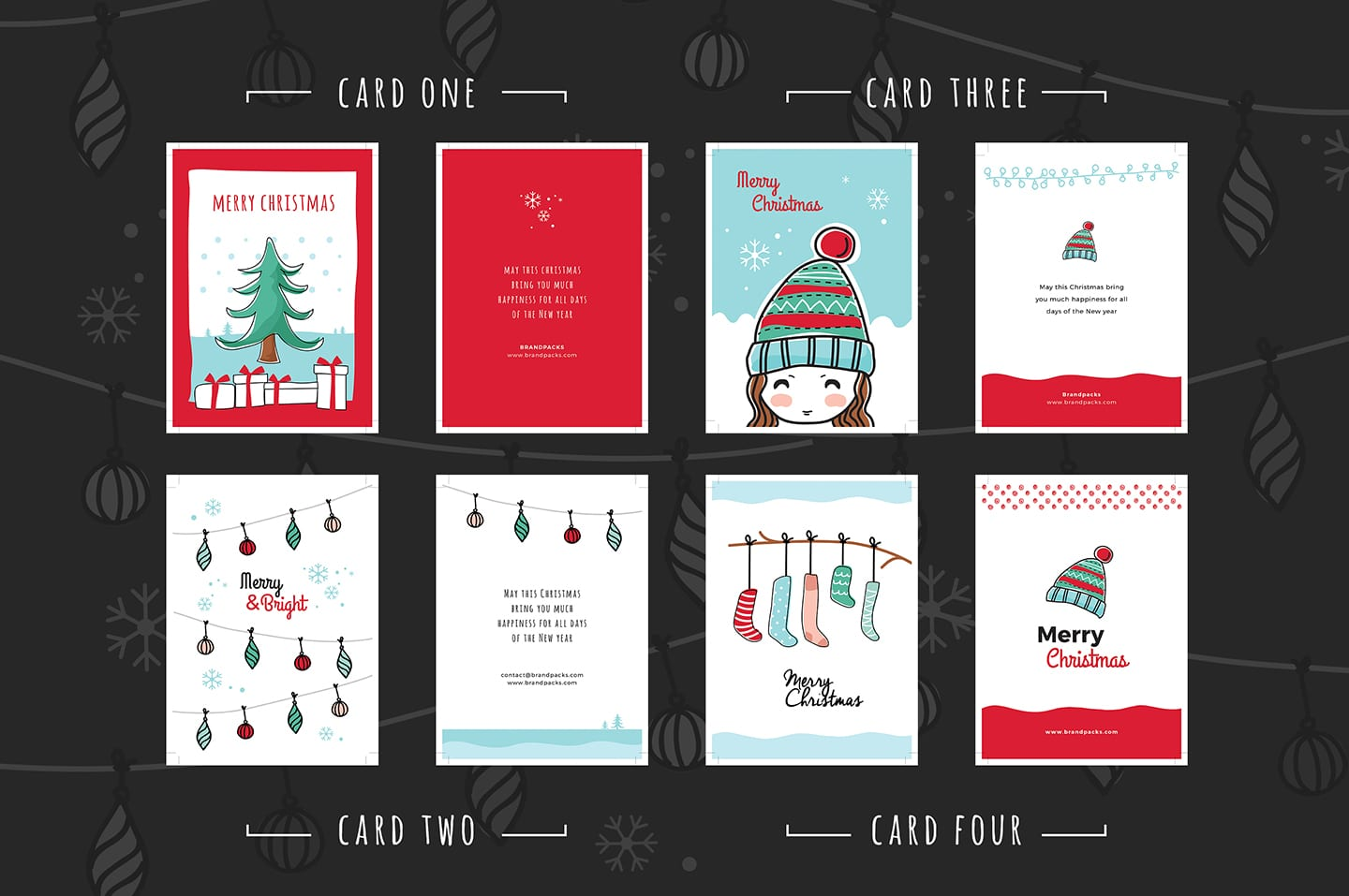 Download free adobe illustrator greeting card templates if you're looking for free greeting card templates then you're in luck! Free Christmas Card Templates For Photoshop Illustrator Brandpacks