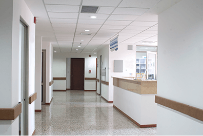 Healthcare - Photo of empty hospital hallway