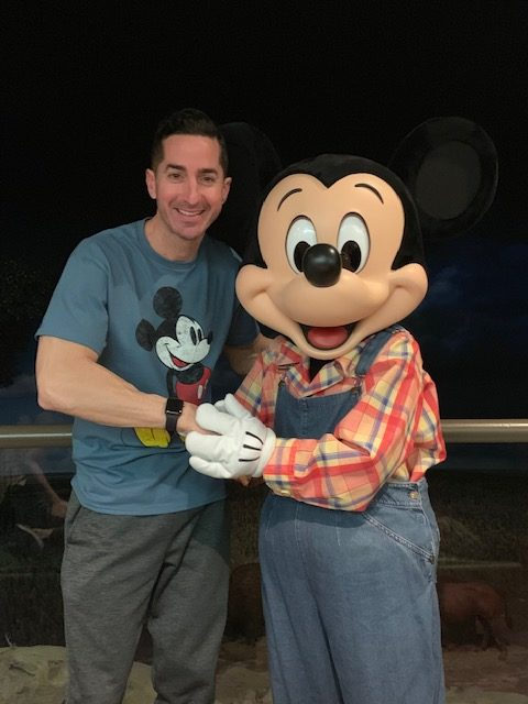 Peter Reali with Mickey Mouse.
