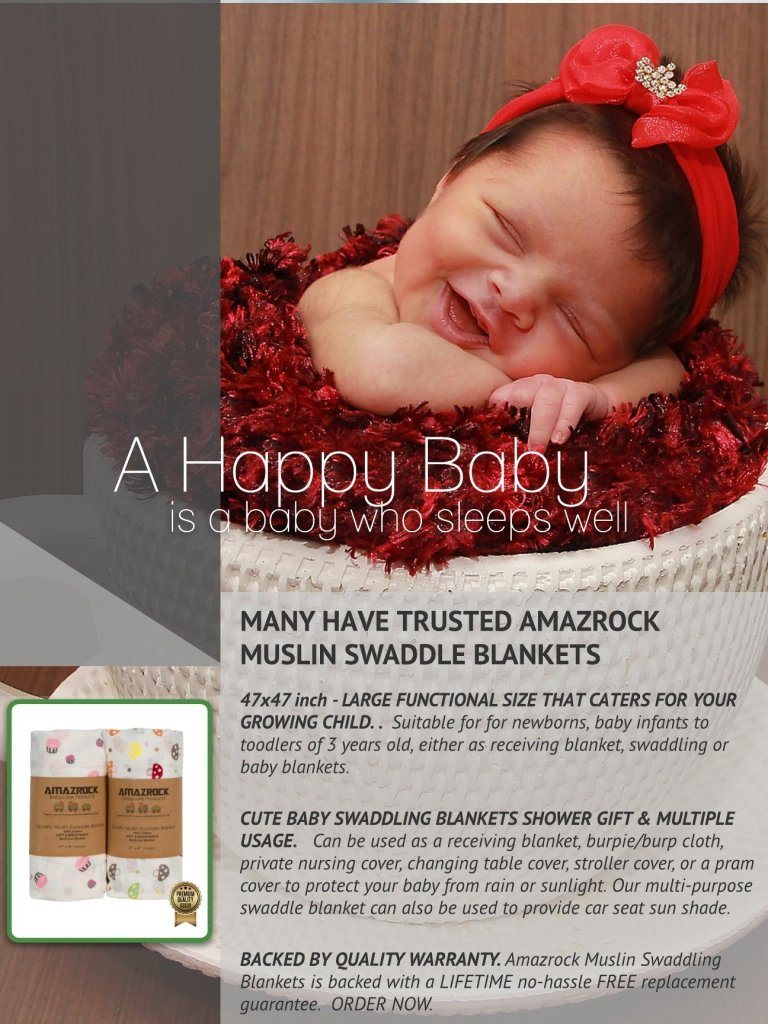 Trusted by Many - Amazrock Muslin Swaddle Blankets