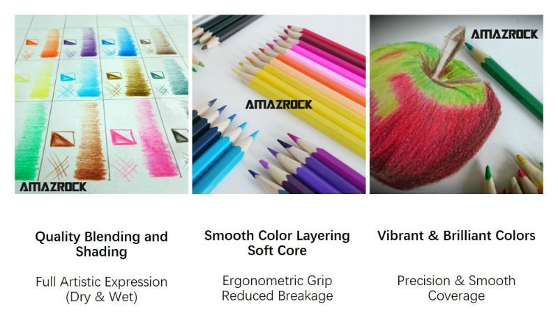 Amazrock Water Soluble Colored Pencil - Features and Benefits