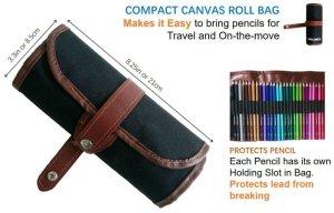 Watercolor Pencil Set Rollbag by Amazrock