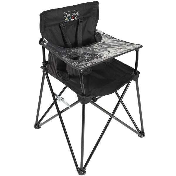 ciao! baby Portable High Chair for Babies and Toddlers, Fold Up Outdoor Travel Seat with Tray and Carry Bag