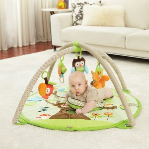 Skip Hop Treetop Friends Baby Play Mat and Infant Activity Gym, Green-Brown