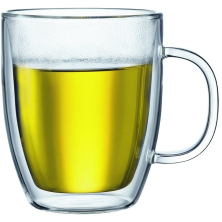 Bodum Bistro Jumbo Mug (Clear) – 2 Piece double wall 0.45 L 15 oz