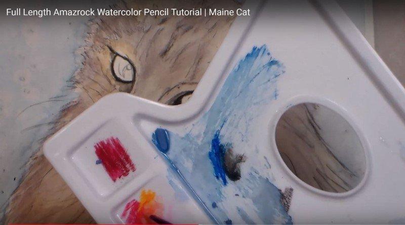 Amazrock Watercolor Tutorial | Save Pencil Lead for Palette