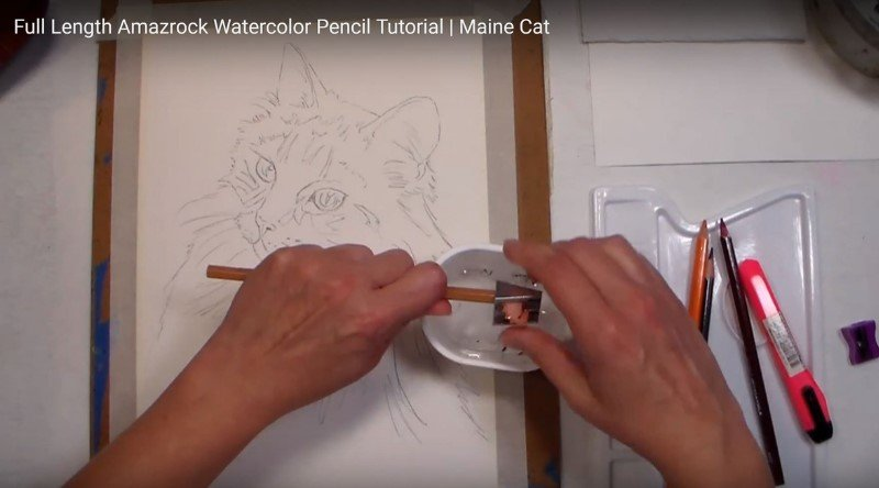 Amazrock Watercolor Tutorial | Turn Pencil Sharpener and not the pencil