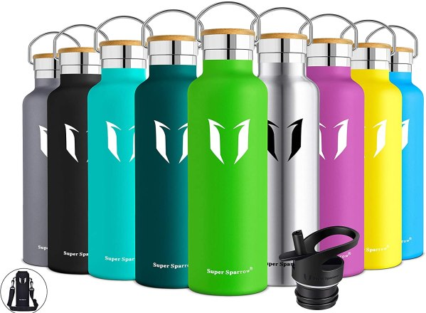 Super Sparrow Stainless Steel Vacuum Insulated Water Bottle, Standard Mouth Leak Proof Thermoflask