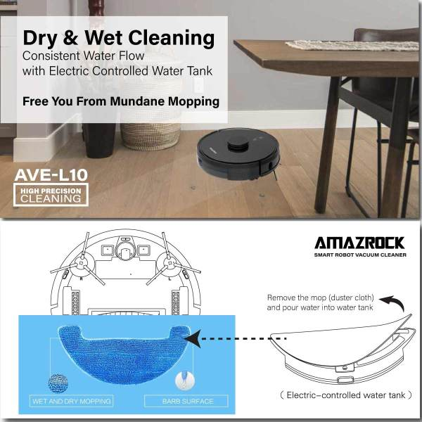 Amazrock AVE-L10 - Wet Cleaning (Freed from Mundance Mopping)