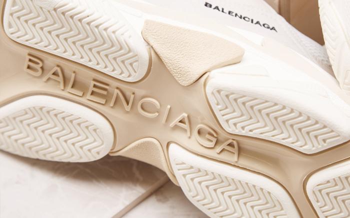 Baskets triple s en toile Balenciaga Jaune taille 37 EU en