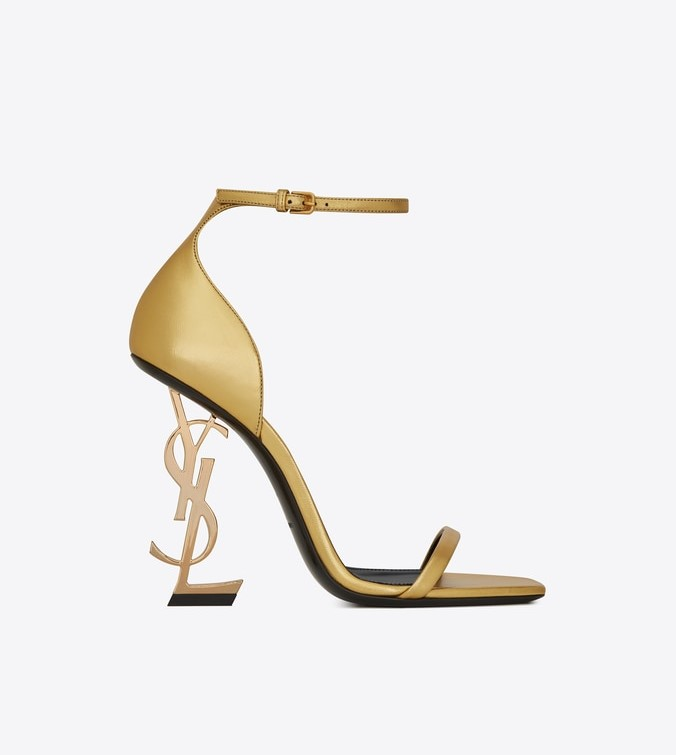 4efee2f6a2a -OPYUM SANDALS WITH GOLD-TONED HEEL IN SMOOTH LEATHER ($1,195)