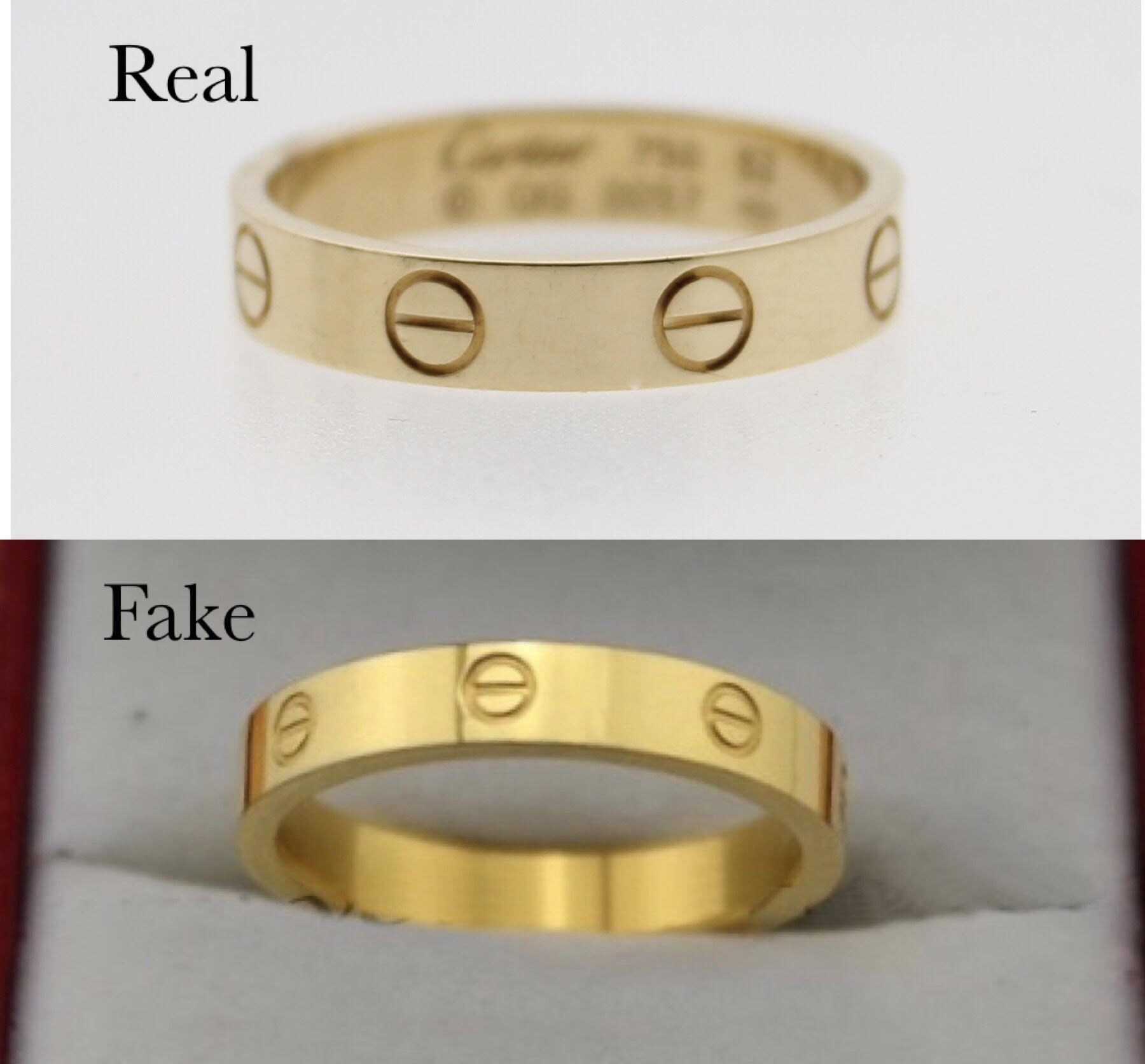 How To Spot A Fake Cartier Love Ring Brands Blogger