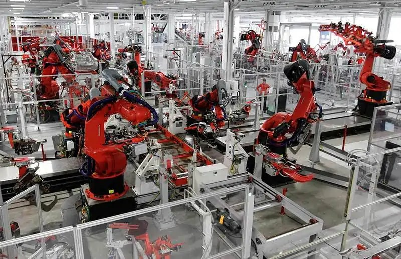 Linia produkcyjna w fabryce Foxconn