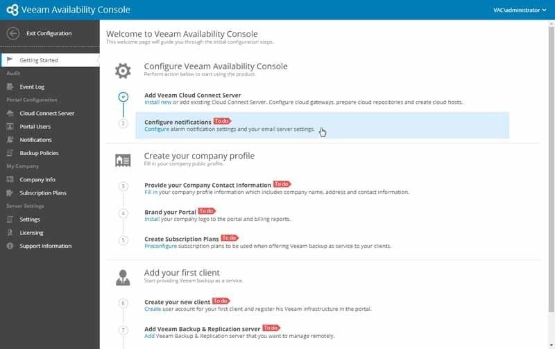 Veeam Availability Console