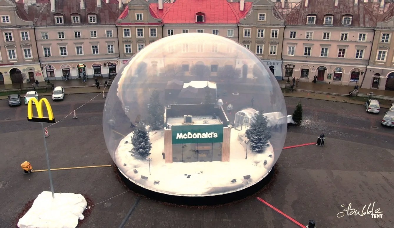 Gigantyczna Kula Śnieżna McDonalds, czyli nietuzinkowa reklama, która porywa tłumy bubble close logo
