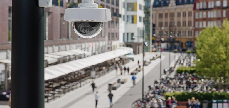 monitoring, obiektyw, ochrona, kamera, ulica