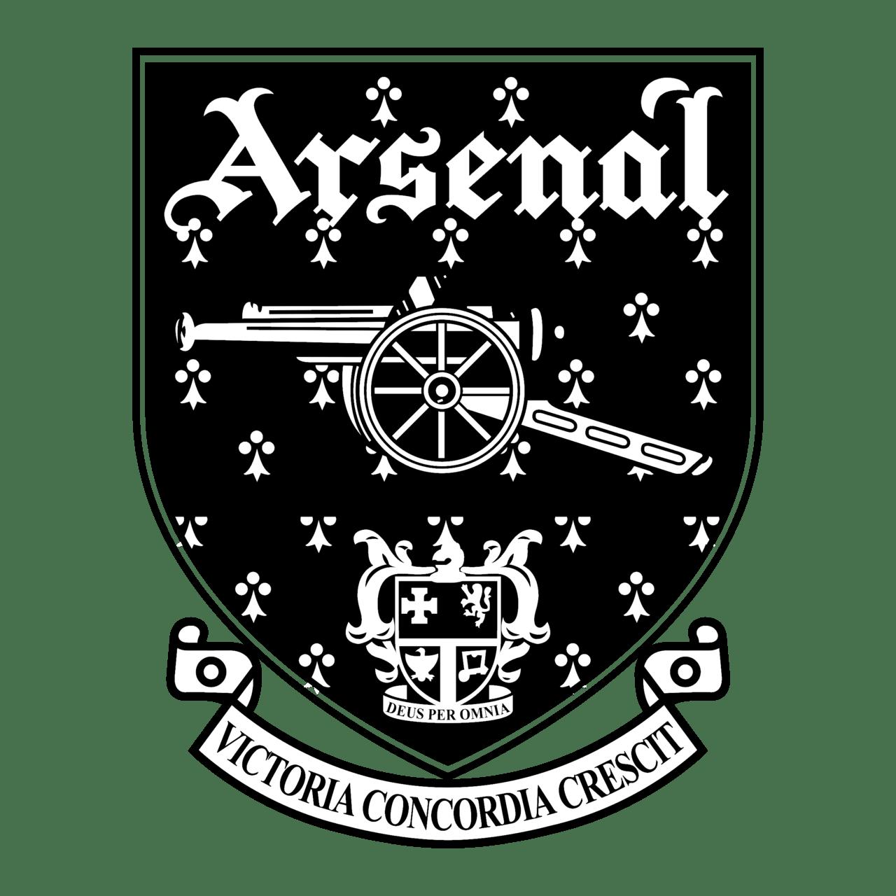 arsenal logo black and white 3