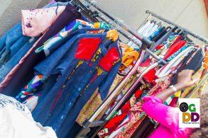Lovely fabrics on display...