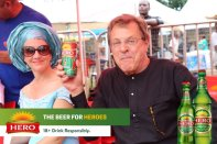 L-R: Managing Director, International Breweries Plc, Anabelle Degroot and Marketing Director, Arne Rust, also of IB Plc at the celebration marking the 2018 edition of Ofala Festival in Onitsha, Anambra State on Saturday, 6th October, 2018