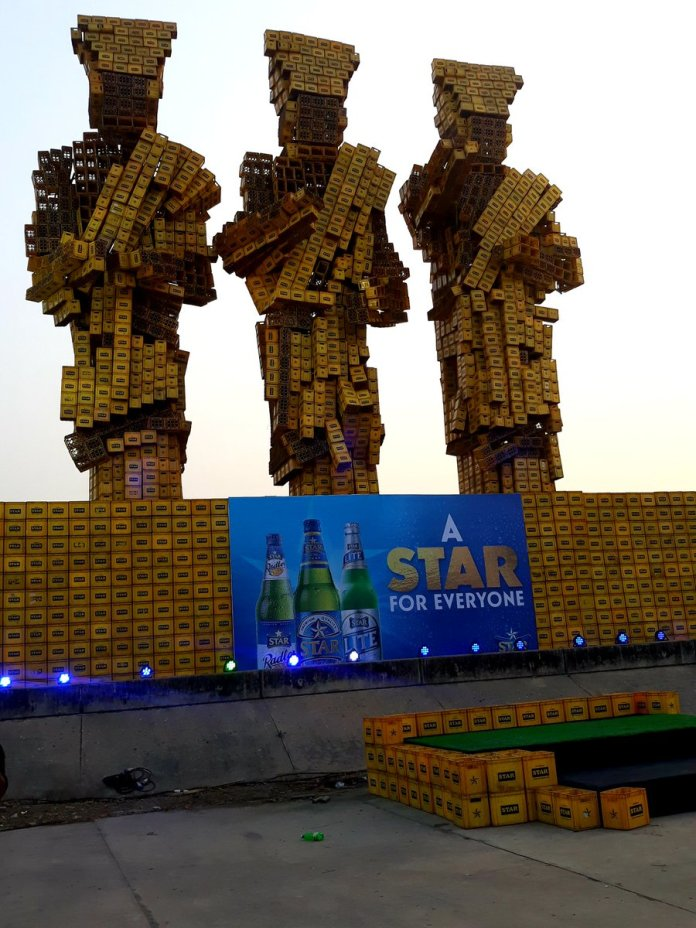 #OneLagosFiesta: Idejo Chiefs (3 Wise Men) Made With Star Lager Beer Crates (Photos) - Brand Spur