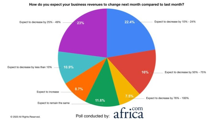 Poll Reveals 70% of African Businesses Expect their Revenues to Decrease by More Than 10% Next Month - Brand Spur