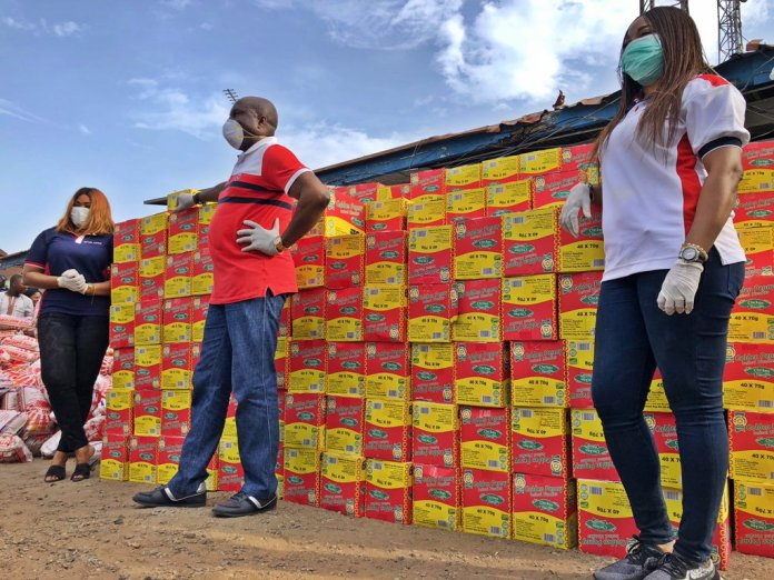 CORONAVIRUS: Air Peace Donates Food Items To The Less Privileged - Brand Spur