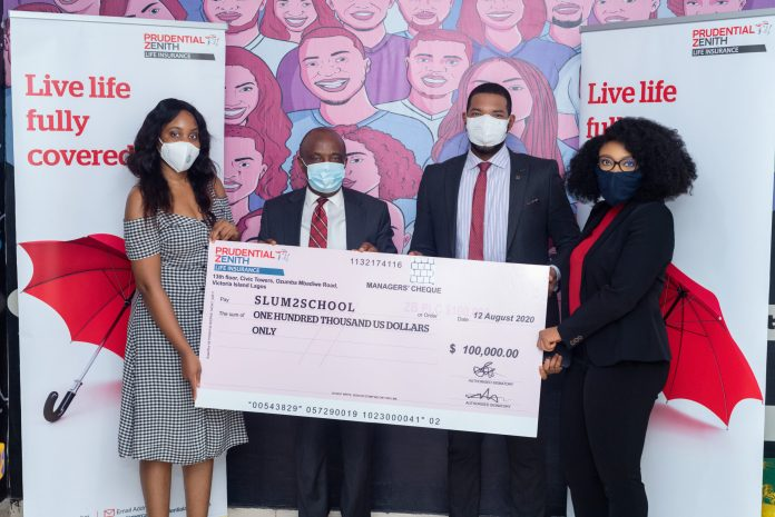 Prudential Zenith Life Donates $100,000 To Slum2school Towards Fighting Effects Of COVID-19 In Nigeria