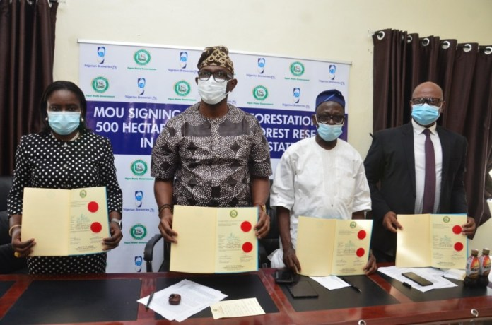 Nigerian Breweries Plc to plant 600,000 trees in Ogun State.