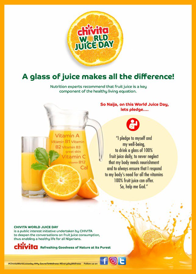 Chivita Celebrates the Second Edition of its Chivita World Juice Day