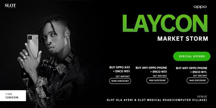 OPPOMarketStorm Brandspurng OPPO Nigeria Set to Kick Off Market Storm with Brand Partner, Laycon