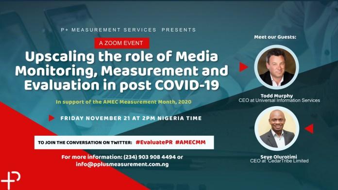 P+ Measurement Services pushes AMEC Measurement Month Campaign in the Nigerian PR Industry