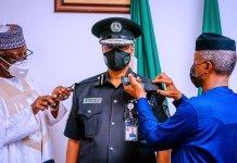VP Osinbajo Decorates New Police IG, Usman Alkali Baba-Brand Spur Nigeria