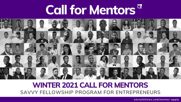Winter 2021 Call For Mentors: Savvy Fellowship Program-Brand Spur Nigeria