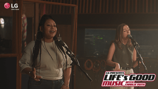 2021 Life's Good Music Project with Charlie Puth and the winners, Stacey Ryan, and Stacy Capers are singing.