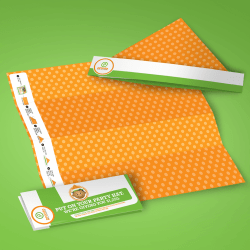 pronto direct mail that folds into a party hat