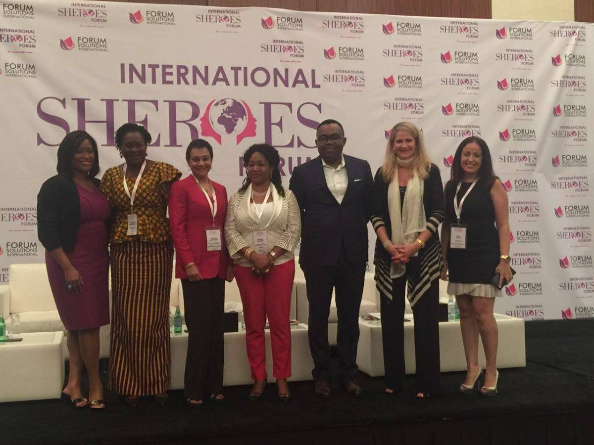 Panelists at SHEROES International Forum, Dubai.