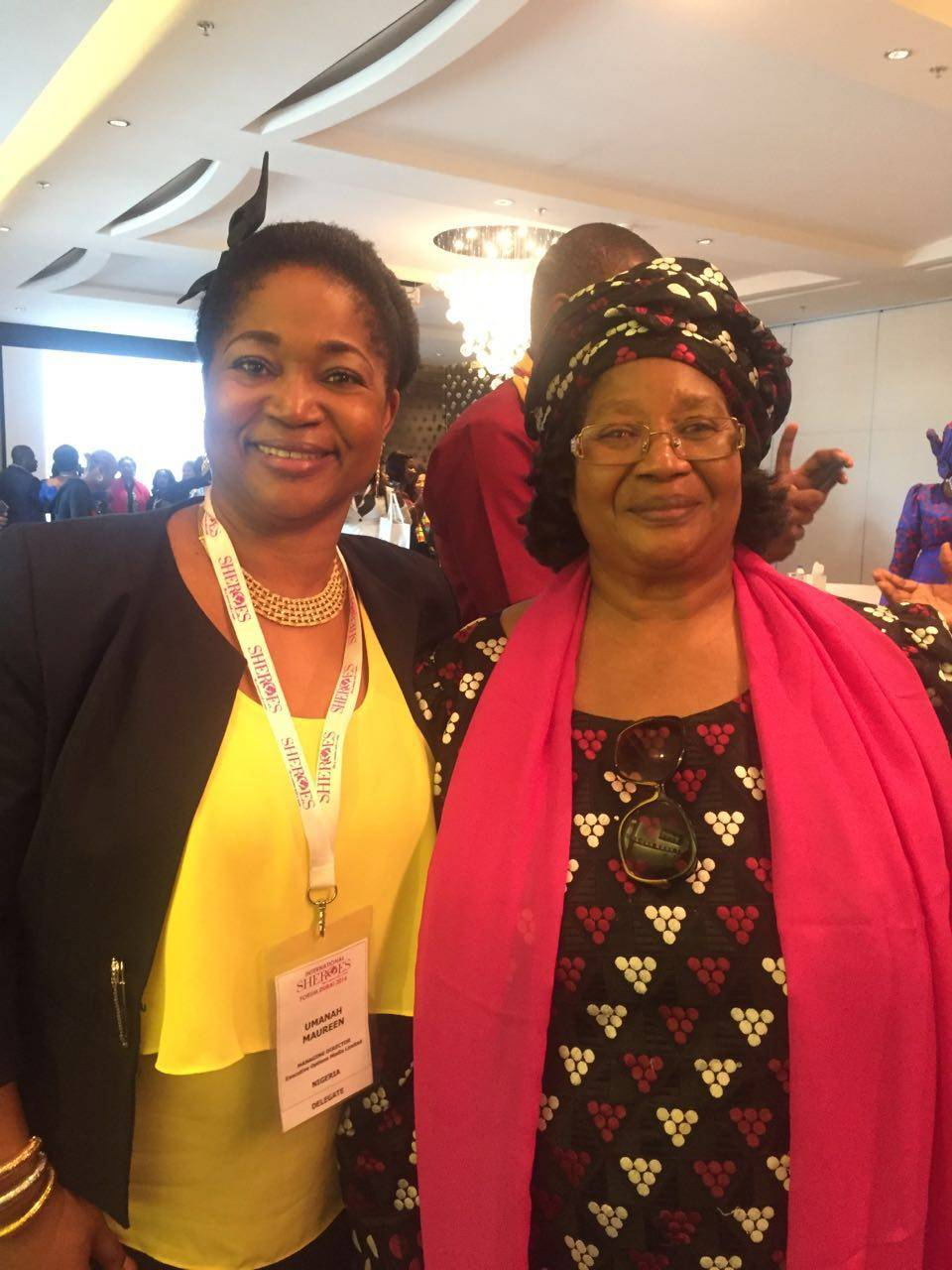 L-R Mrs Maureen Umanah, Editor-in-chief, Billboard World Magazine and Dr. Joyce Banda, Fmr. President, Malawi, at the SHEROES L-R Mrs Maureen Umanah, Editor-in-chief, Billboard World Magazine and Dr. Joyce Banda, Fmr. President, Malawi, at the SHEROES International Forum, Dubai. Forum, Dubai.