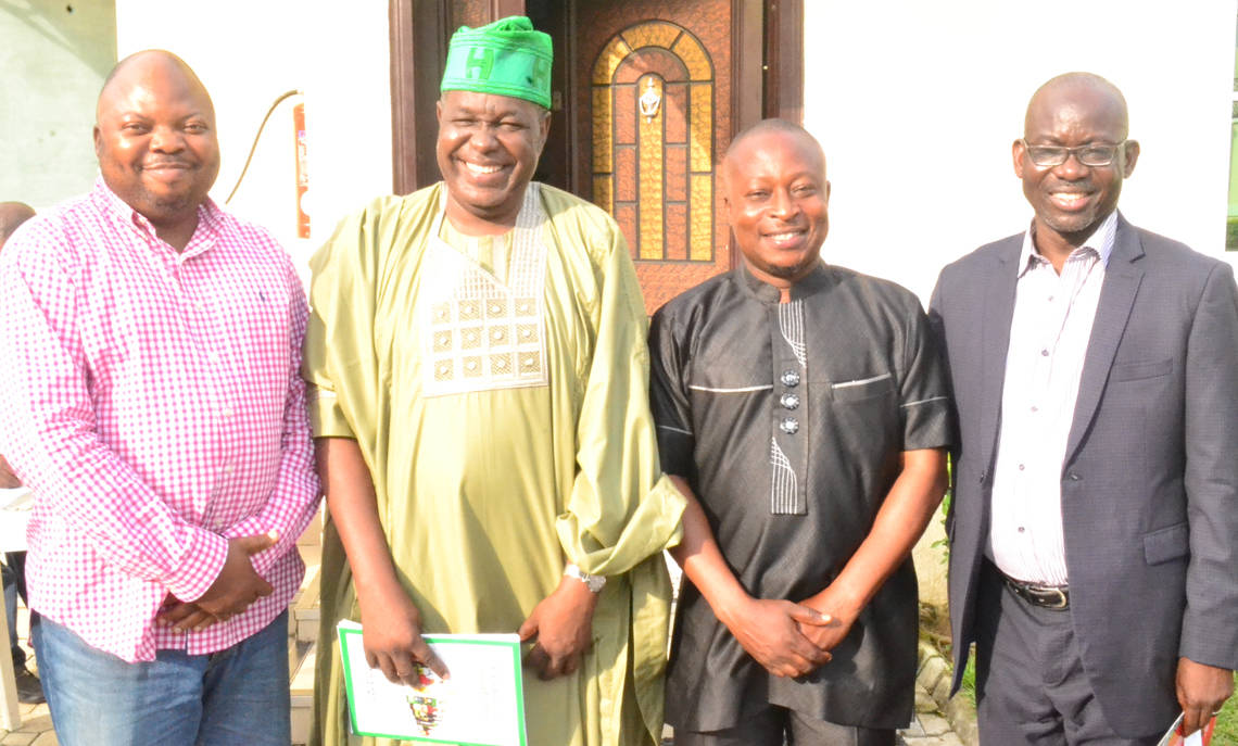 From Left: Akin Adeoya, Managing Director, MarketingMix, Dr. Bola Olaosebikan, Publisher, Healthcare Magazine with Mr. Akinwumi Dickson, Publisher Brandcampaign Magazine and Dr. Rotimi Oladele, President Nigerian Institute of Public Relations (NIPR) at the Brand Campaign 5th anniversary lecture and awards held at ADNA Hotel, GRA- Ikeja, Lagos recently