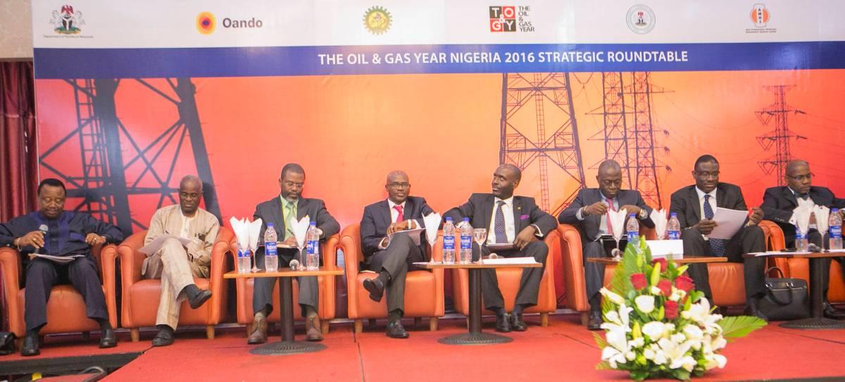 Chief Tunde Afolabi, Chairman of Amni International Petroleum Development Company;Dr. Layi Fatona, CEO of Niger Delta Exploration & Production;Mr. Femi Akarakiri, MD of Weatherford Nigeria;Mr.Adeyemi Adetunji, Group General Manager, Strategy & Execution Gas & Power at NNPC;Mr. Ayo Ajose-Adeogun, CSO for Oando Plc;Dr. Lazarus Angbazo, CEO of GE Nigeria; Dr. David Ige, CEO of GasInvest; Mr. Sola Adepetun, Managing Partner of ACAS Law.
