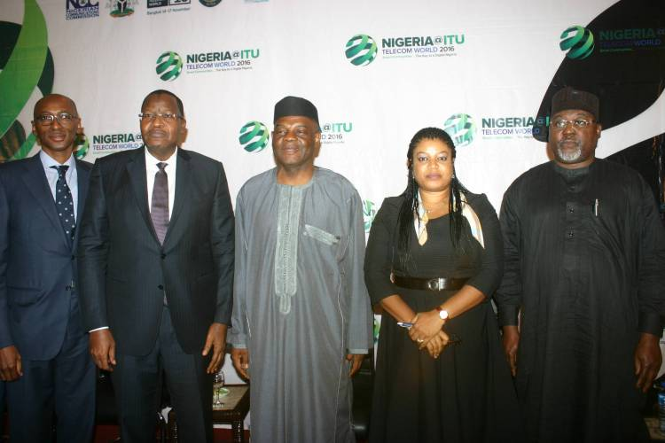 L-R: Vice President, Etisalat, Ibrahim Dikko; Executive Vice Chairman, NCC, Prof Umar Danbatta; Permanent Secretary, Ministry of Communication, Arch. Sunday Echono; MD/CEO, NigComSat, Abimbola Alale; Executive Vice Commissioner (Technical Services), NCC, Engr. Ubale A. Maska at the ITU Stakeholders Forum in Lagos recently