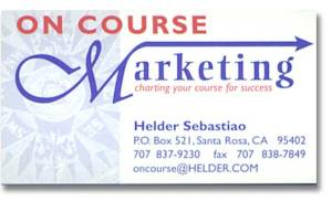 Logo Design and Business Card for On Course Marketing