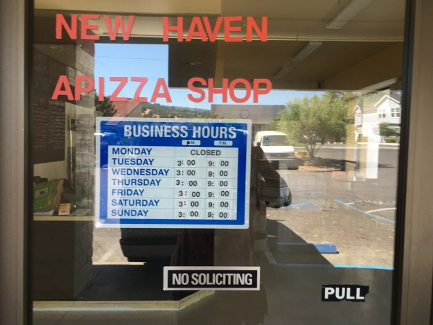 Pizza Hours at Garcia's Bakery